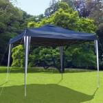 Pavilion Gradina/Cort racing cu structura harmonica albastra