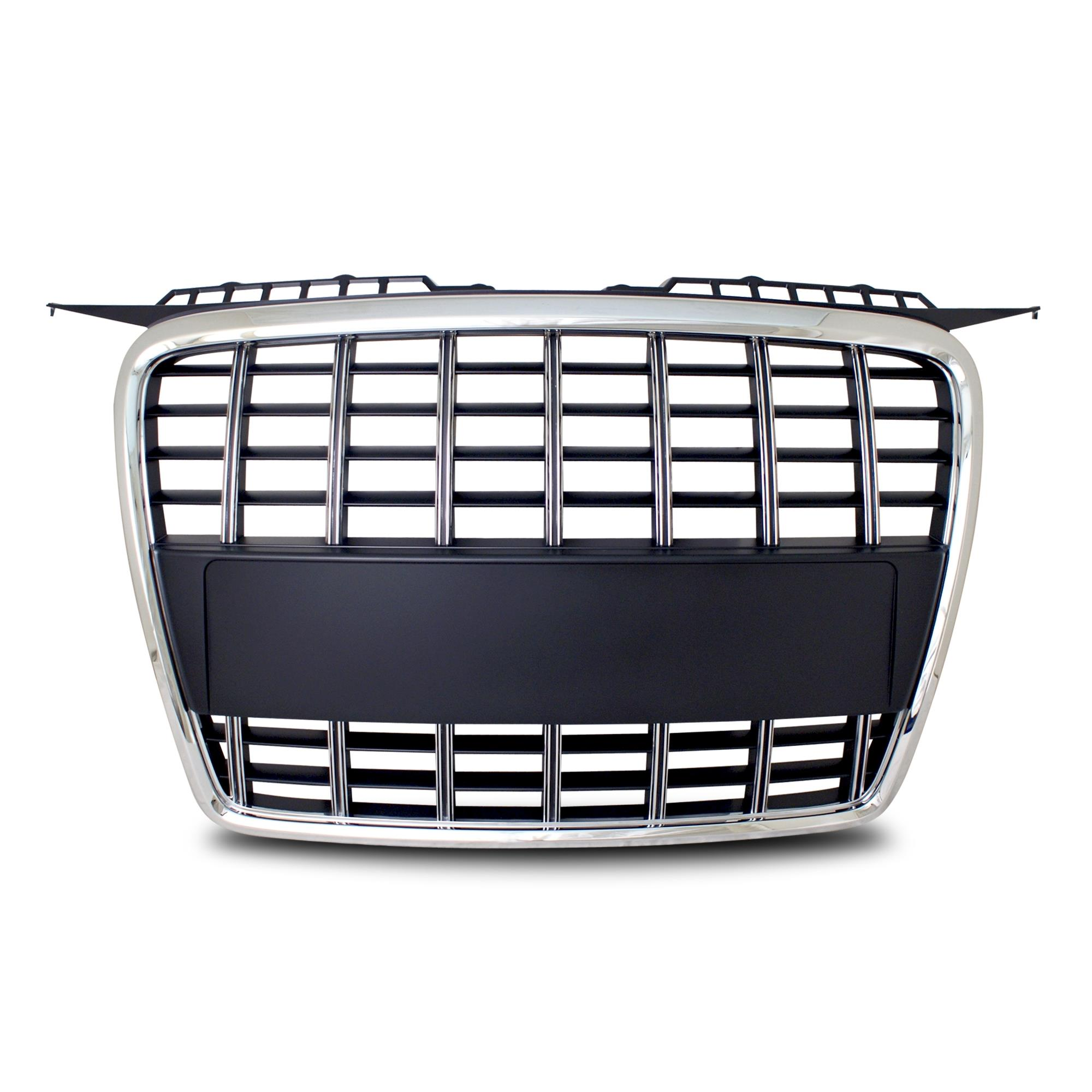 grila sport jom premium audi a3 8p 04 07 facelift s3 look neagra cu rama crom jom 8p853653coe. Black Bedroom Furniture Sets. Home Design Ideas